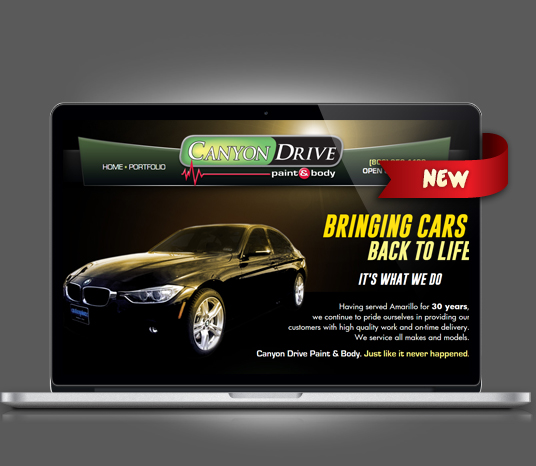Canyon Drive Paint & Body - Amarillo Website Design, Amarillo Web Design, Amarillo Web Designers, Amarillo Webpage Designer