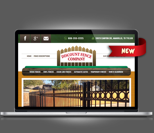 Discount Fence - Amarillo Website Design, Amarillo Web Design, Amarillo Web Designers, Amarillo Webpage Designer